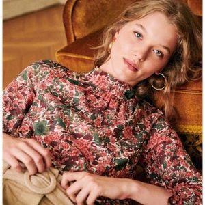 Sezane Clothilde Blouse, size 38